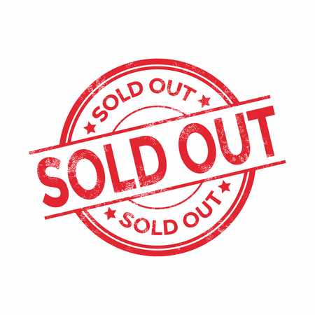 sold out: Sold out vector stamp