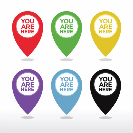 You are here map pointer icon vector