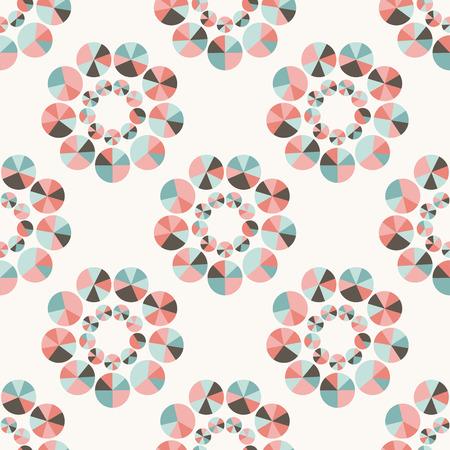 Seamless geometric pattern pastel tones. Vector repeating texture