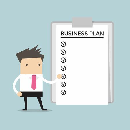 Businessman show a business plan