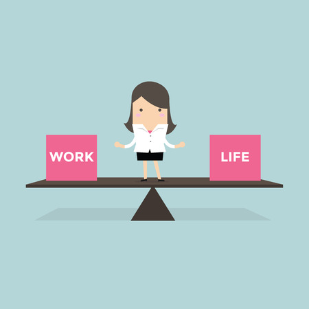 Businesswoman balance Work and life
