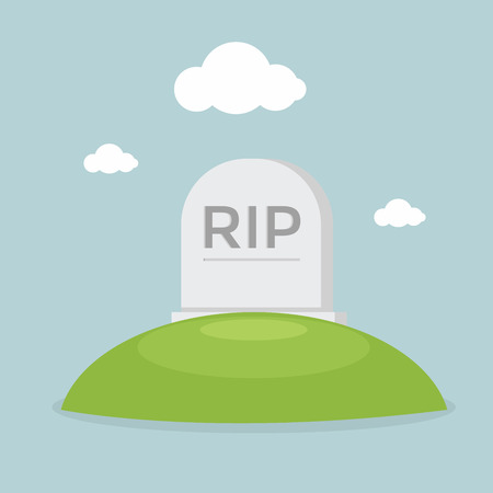 graves: Grave flat design vector Illustration