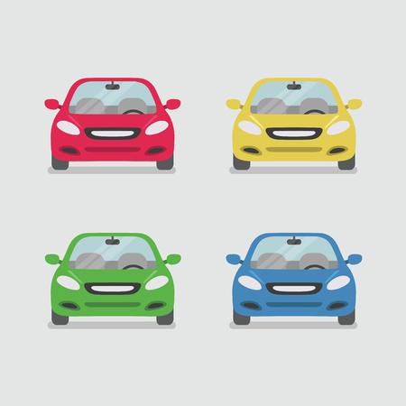 Car front view vector
