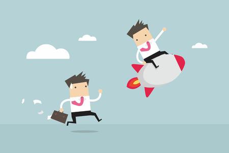 Business competition. Competitive advantage. vector