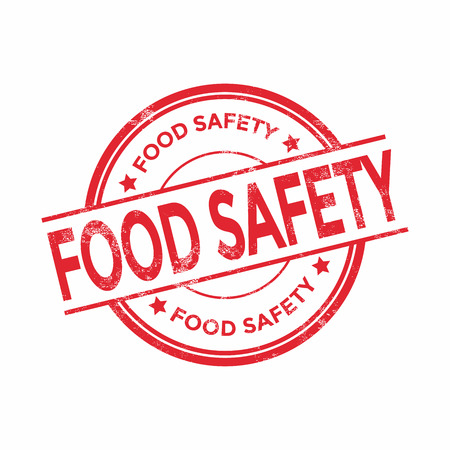 non toxic: Food safety rubber stamp, vector illustration isolated on white background
