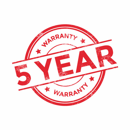 5 years warranty icon isolated on white background