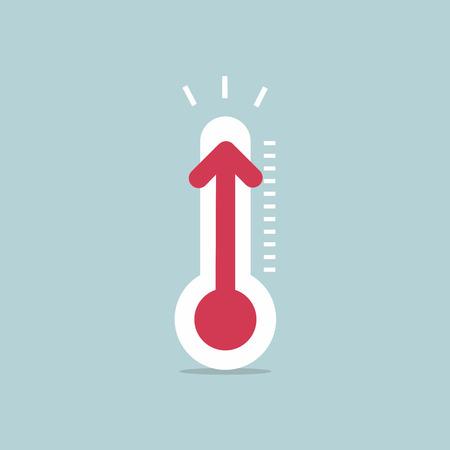 Aumento de la temperatura con el termómetro