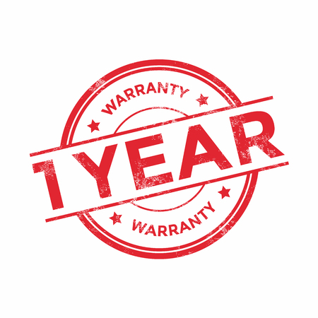1 year warranty: 1 year warranty icon isolated on white background