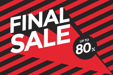 bargain: Final sale banner.Vector illustration