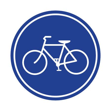 bicycle lane: Blue Bicycle lane sign vector