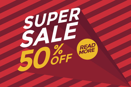 auction off: Super sale banner.Vector illustration
