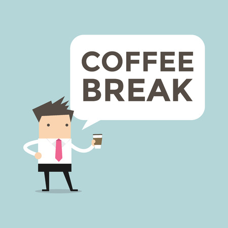 break: Businessman coffee break vector