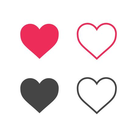 heart: Cuore icone vettoriali. Vettoriali