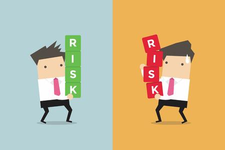 Geschäftsmann Risikomanagement. Business-Konzept Cartoon-Vektor Standard-Bild - 60389007