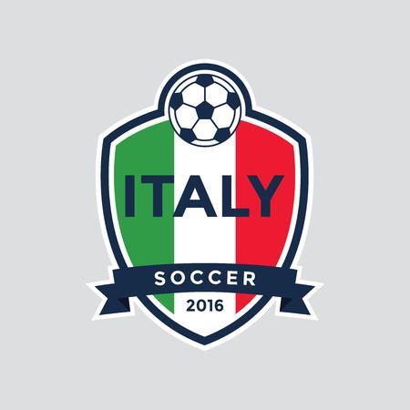footy: Italy Championship Soccer Crest. Vector Illustration