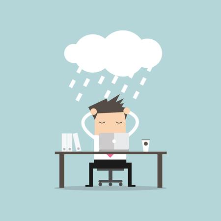 strain: Businessman strain. vector Illustration