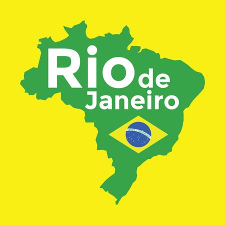 brazil map: Brazil map Rio de Janeiro. vector