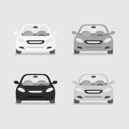 autosport: Car front view vector
