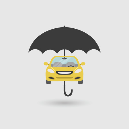 insured: Car Protection, insurance concept. vector