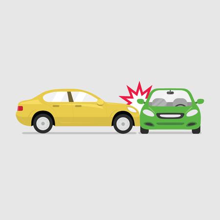 Car crash and accidents. vector