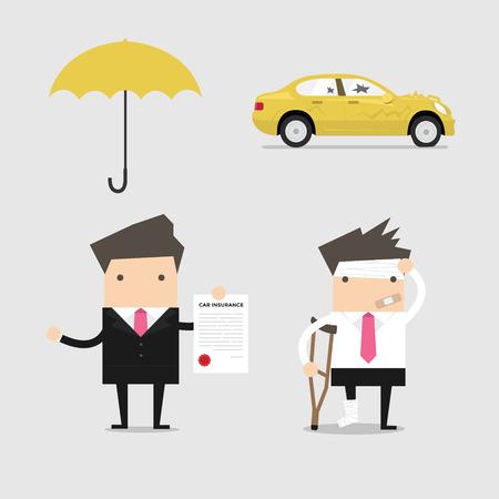 Business insurance services conceptual. vector
