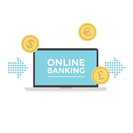 online banking: Online Banking. vector