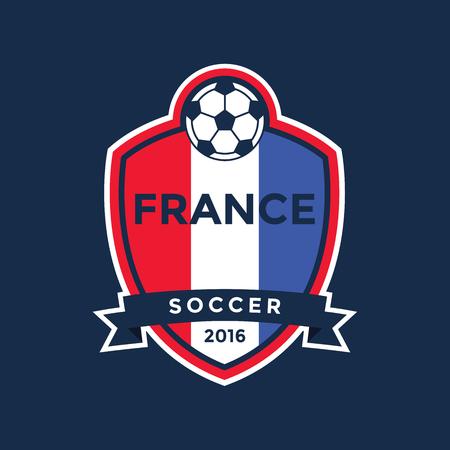footy: France Championship Soccer Crest. Vector Illustration