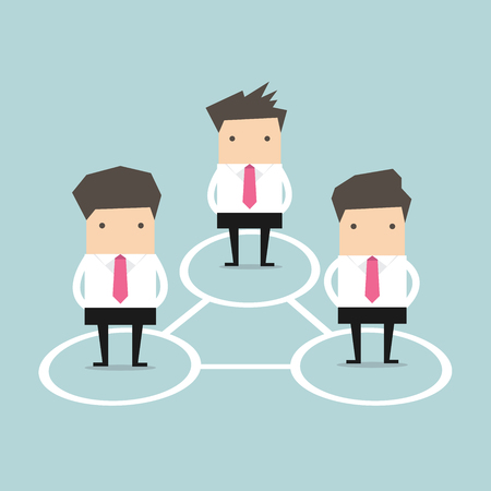 Business Connections. Vector Ilustracja
