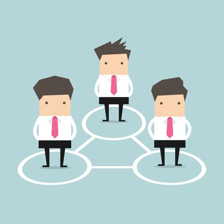 Business Connections. Vector Stock Illustratie