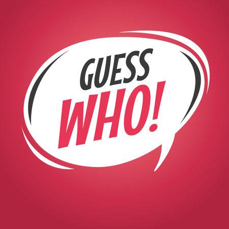 who: Guess who retro speech bubble vector