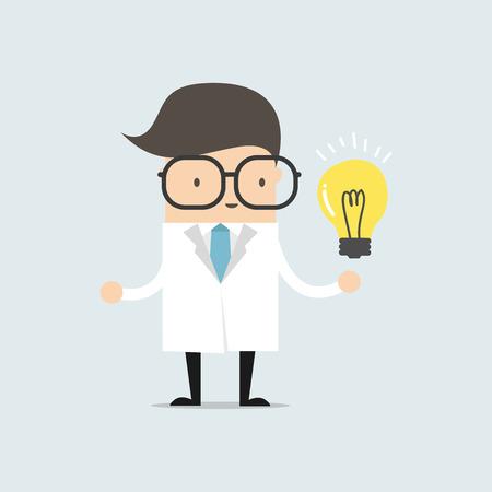 got: Scientists got idea vector. Illustration