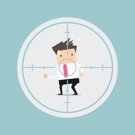 Businessman in crosshairs vector