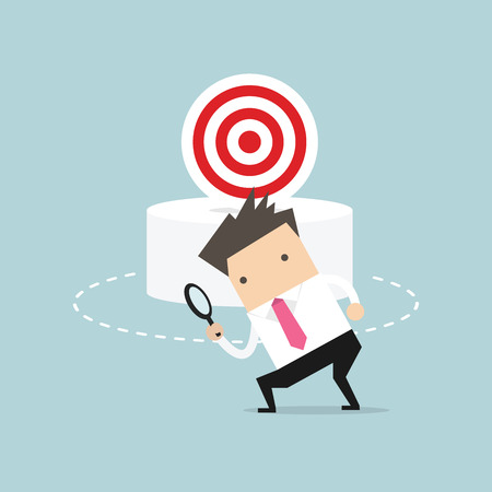 ssman can not find the target. Business concept