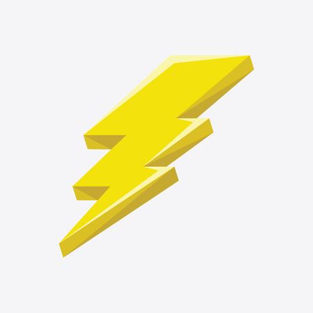 Flash sign thunder yellow. Illustration