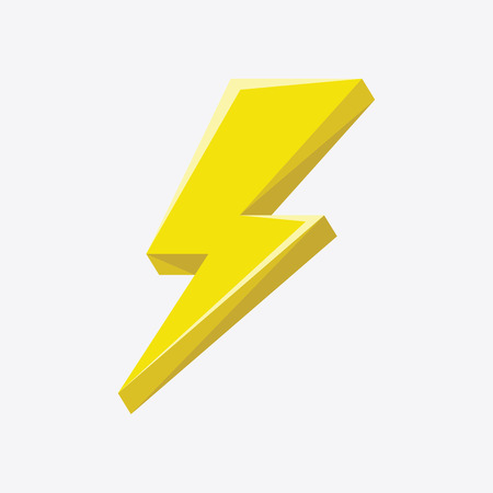 Flash sign thunder yellow. Illustration