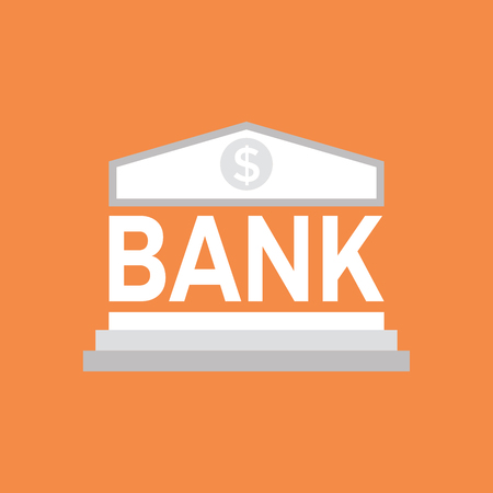 Bank icon, Saving of money, investment concept.