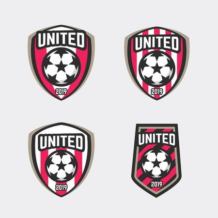 United soccer football badge logo. vector