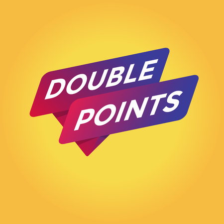 Double points tag sign.