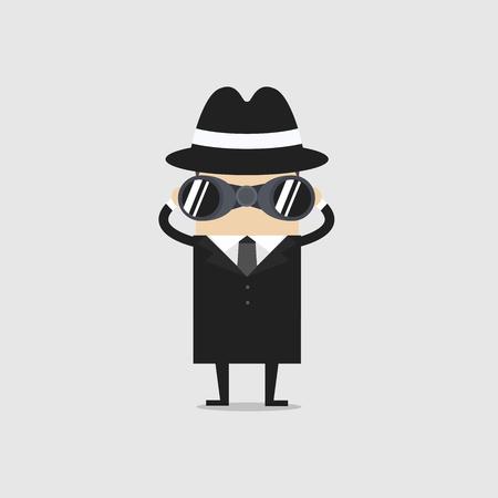 Detective with binocular