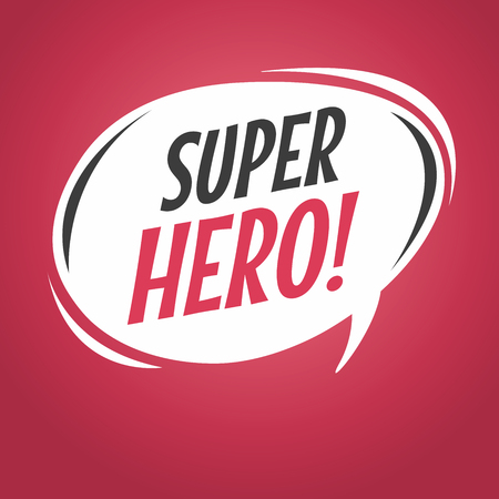Super hero cartoon speech bubble Illusztráció