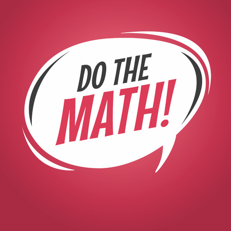 Do the math cartoon speech bubble Çizim
