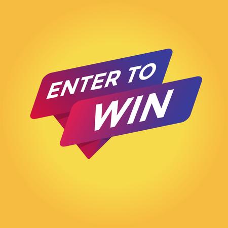 Enter to win tag sign icon illustration. Illustration