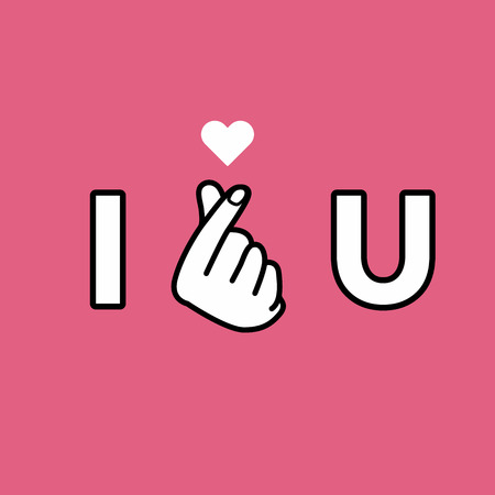 I love you on a  Hand making mini heart sign vector