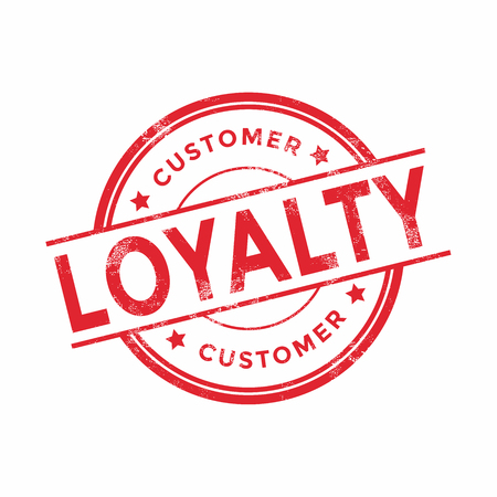 Customer loyalty red rubber stamp on white background. vector