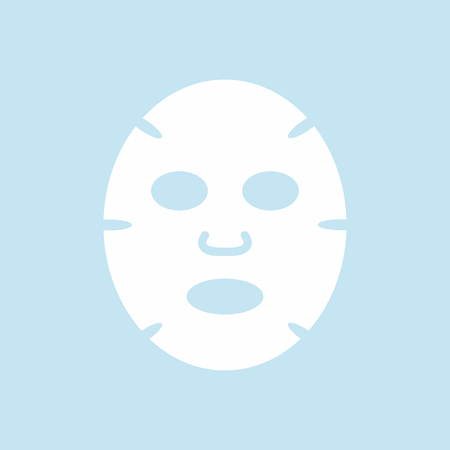 Facial mask flat design icon. Medicine, cosmetology and health care. Vector