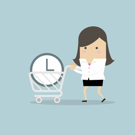 Businesswoman buy time concept