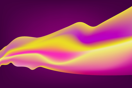 Abstract Curve Background Colorful Gradients. 矢量图像