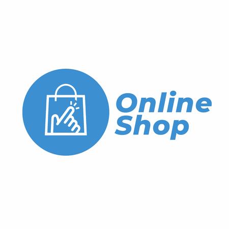 Online Shop Logo designs Template.