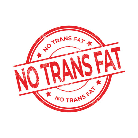 No Trans Fat rubber red stamp isolated on white background.