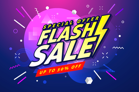 Flash Sale banner template design.